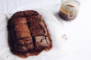 Dark chocolate and hazelnut brownies