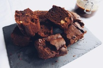 Dark chocolate and hazelnut brownies